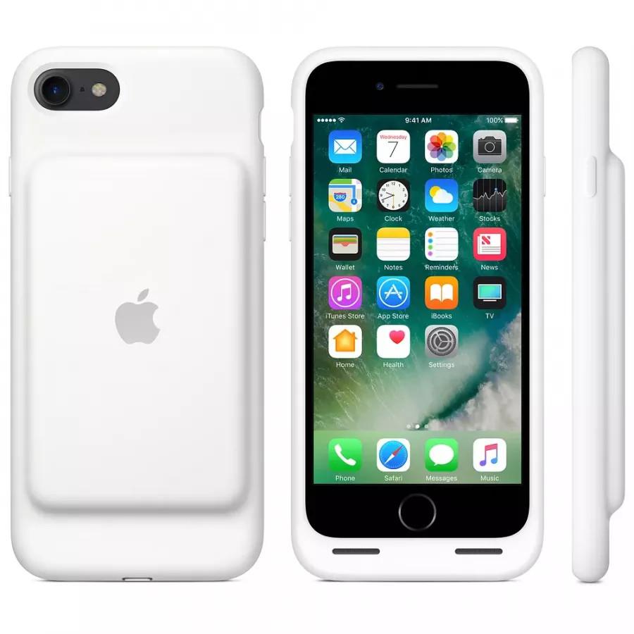 Чехол с аккумулятором Smart Battery Case для Apple iPhone 7/8 - White (Белый). Вид 8
