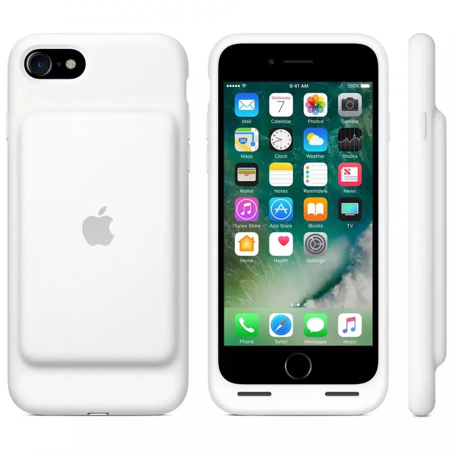 Чехол с аккумулятором Smart Battery Case для Apple iPhone 7/8 - White (Белый). Вид 4