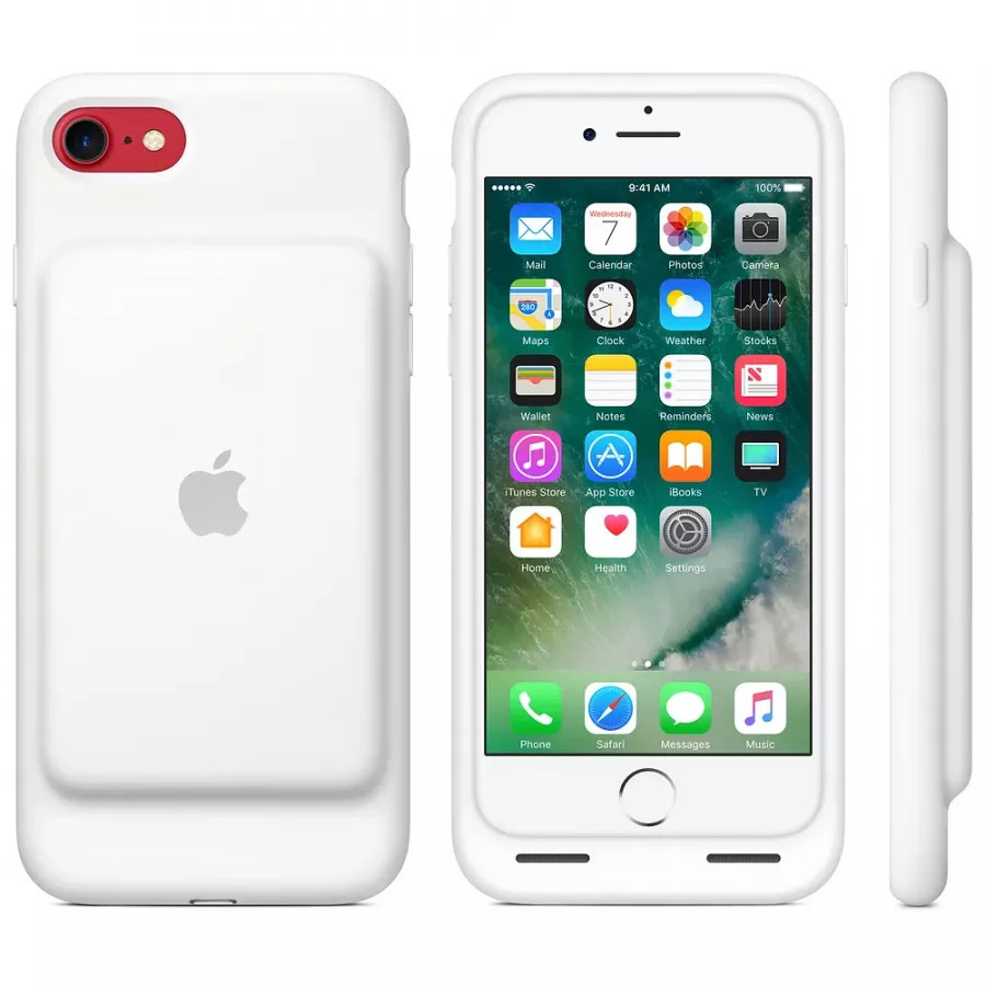 Чехол с аккумулятором Smart Battery Case для Apple iPhone 7/8 - White (Белый). Вид 5