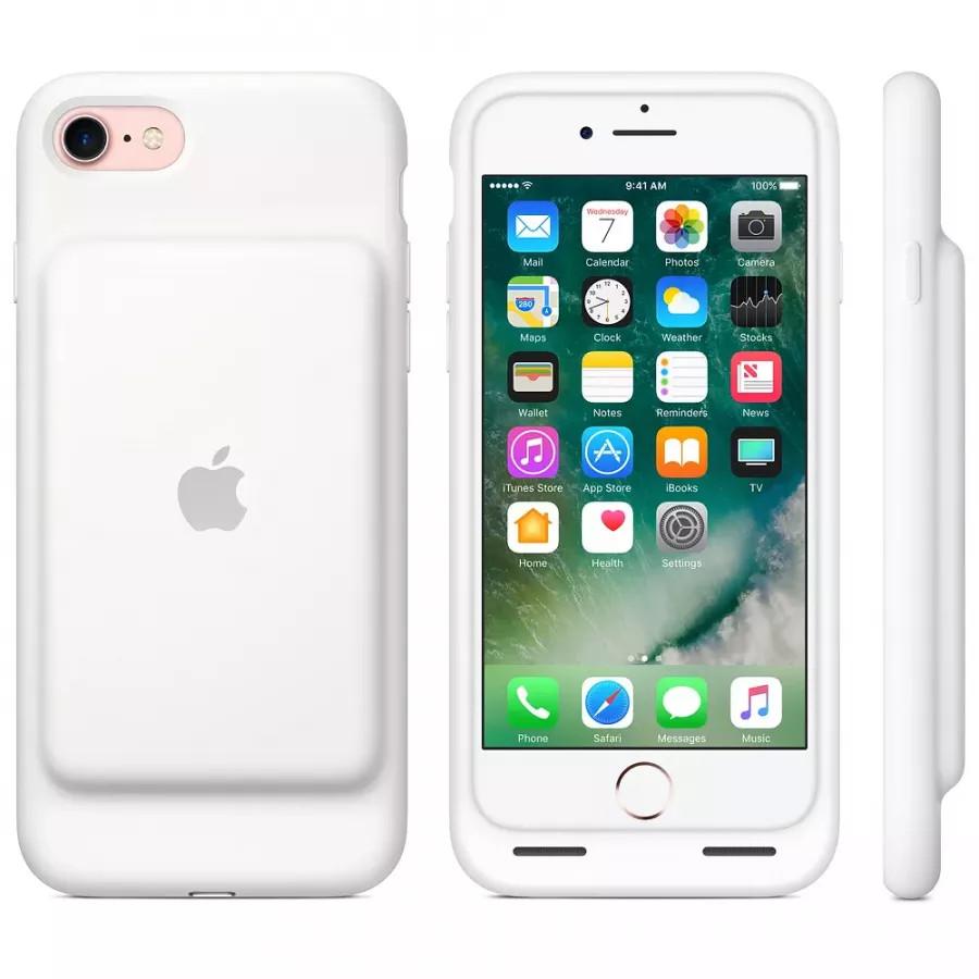 Чехол с аккумулятором Smart Battery Case для Apple iPhone 7/8 - White (Белый). Вид 6