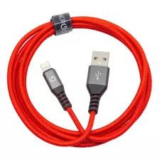 Кабель EnergEA Alutough Kevlar Lightning MFI 1.5м - Красный