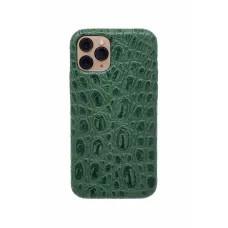 Чехол из натуральной кожи для iPhone 11 Pro - Amazonian green