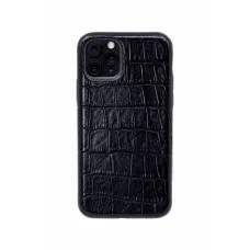 Чехол из натуральной кожи для iPhone 11 Pro - Black