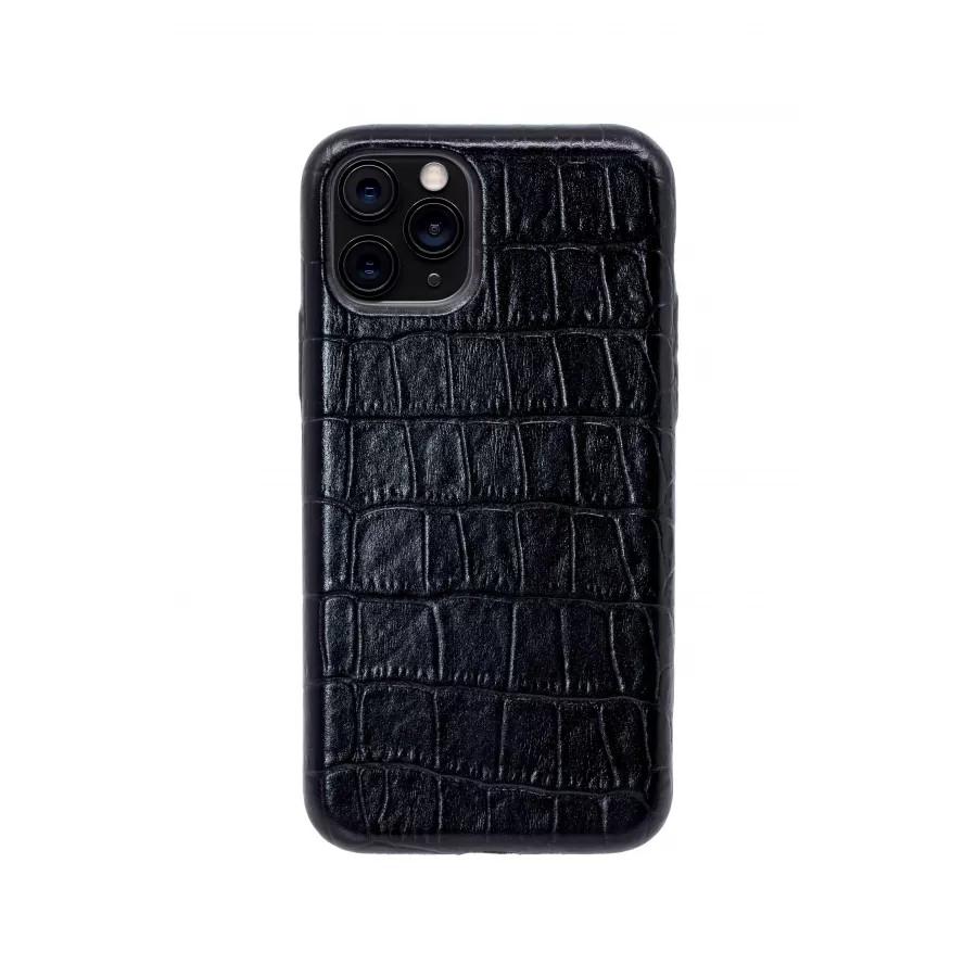 Чехол из натуральной кожи для iPhone 11 Pro - Black. Вид 1