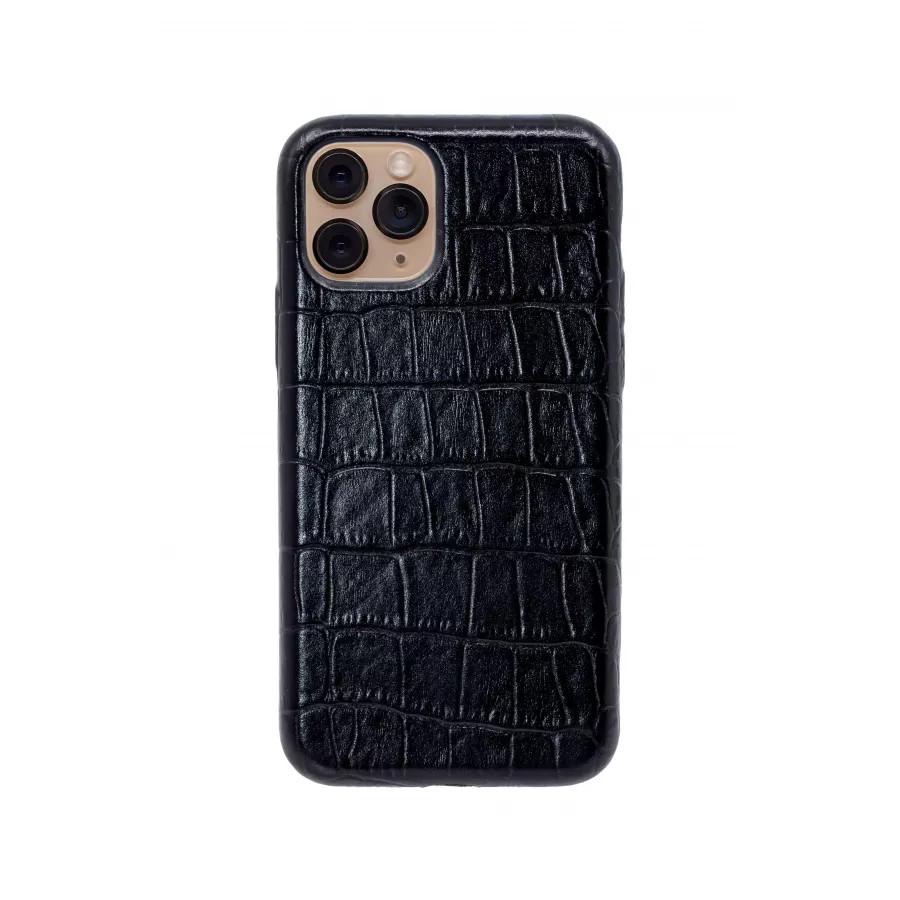 Чехол из натуральной кожи для iPhone 11 Pro - Black. Вид 4