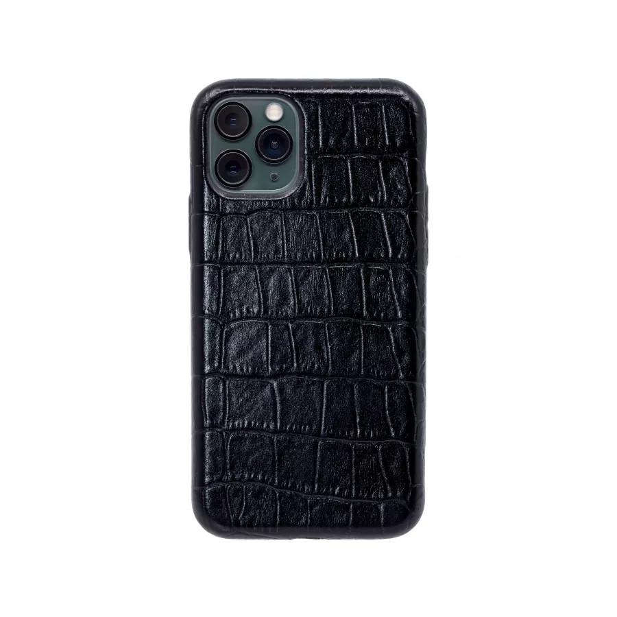 Чехол из натуральной кожи для iPhone 11 Pro - Black. Вид 2