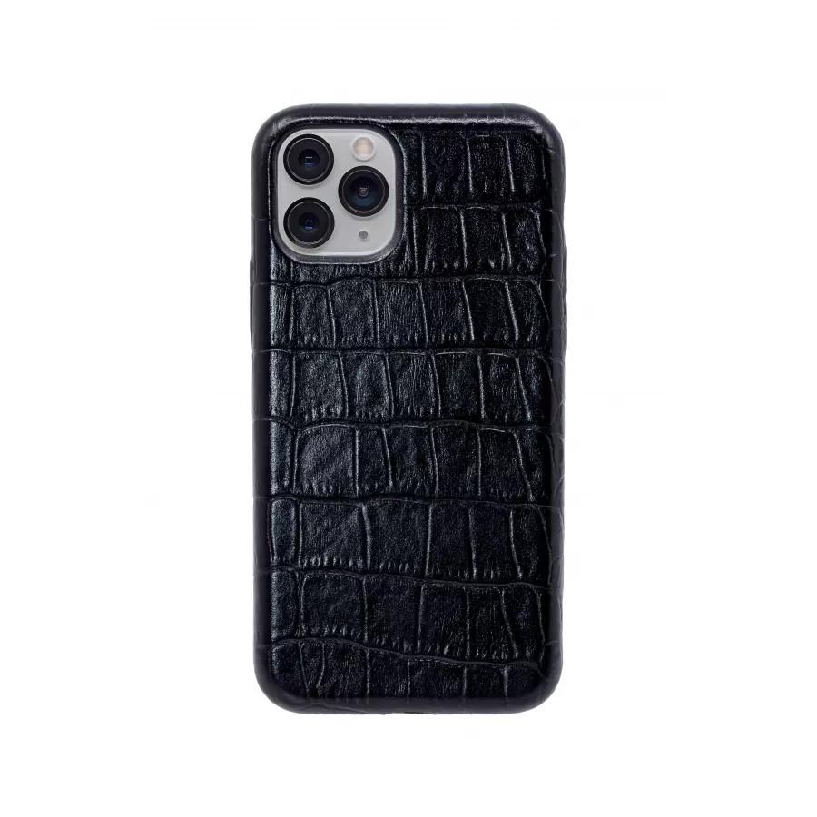 Чехол из натуральной кожи для iPhone 11 Pro - Black. Вид 3