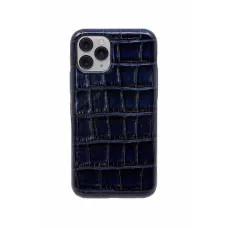 Чехол из натуральной кожи для iPhone 11 Pro - Night blue