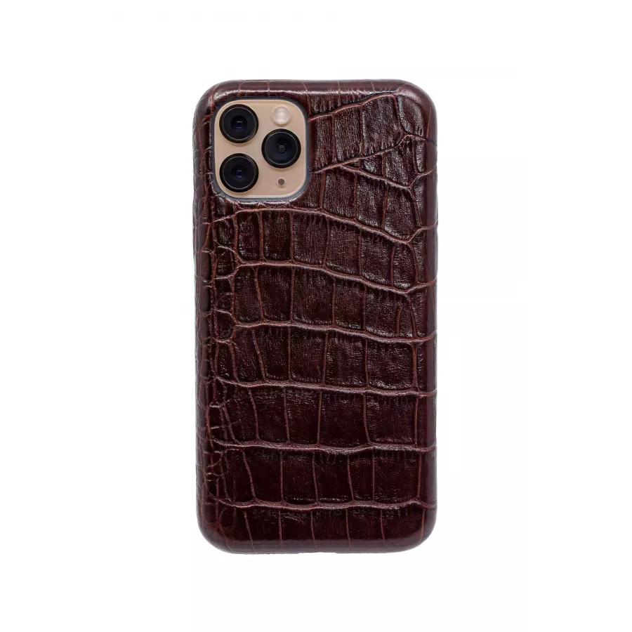 Чехол из натуральной кожи для iPhone 11 Pro - Brown. Вид 2