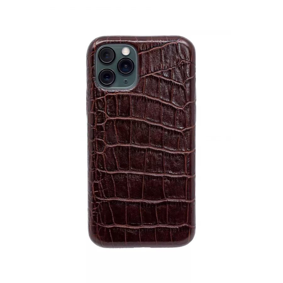 Чехол из натуральной кожи для iPhone 11 Pro - Brown. Вид 3