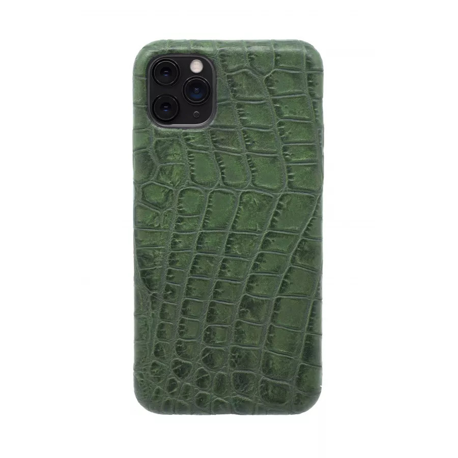 Чехол из натуральной кожи для iPhone 11 Pro Max - Amazonian green. Вид 4