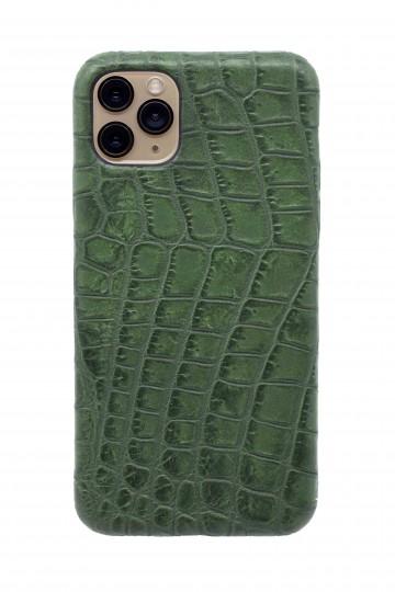 Чехол из натуральной кожи для iPhone 11 Pro Max - Amazonian green. Вид 1