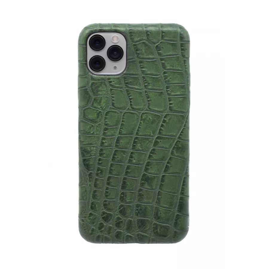 Чехол из натуральной кожи для iPhone 11 Pro Max - Amazonian green. Вид 2
