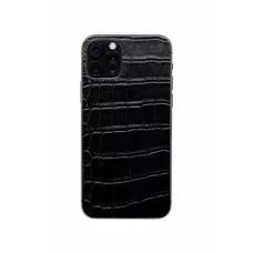 Защитная наклейка из натуральной кожи для iPhone 11 Pro, Вид Черный 1
