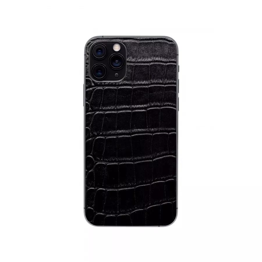 Защитная наклейка из натуральной кожи для iPhone 11 Pro, Вид Черный 1. Вид 1