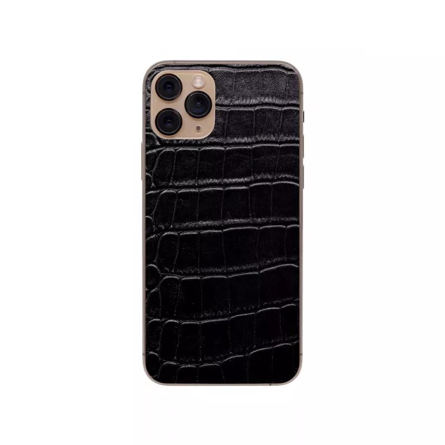 Защитная наклейка из натуральной кожи для iPhone 11 Pro, Вид Черный 1. Вид 4