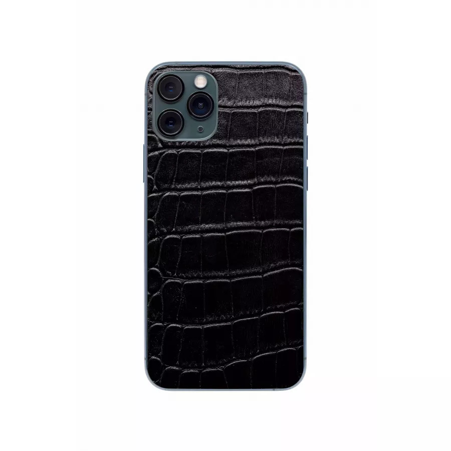 Защитная наклейка из натуральной кожи для iPhone 11 Pro, Вид Черный 1. Вид 2