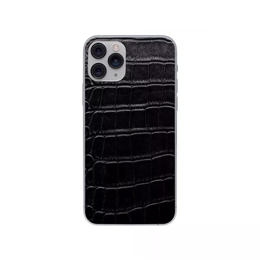Защитная наклейка из натуральной кожи для iPhone 11 Pro, Вид Черный 1. Вид 3