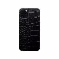 Защитная наклейка из натуральной кожи для iPhone 11 Pro, Вид Черный 2