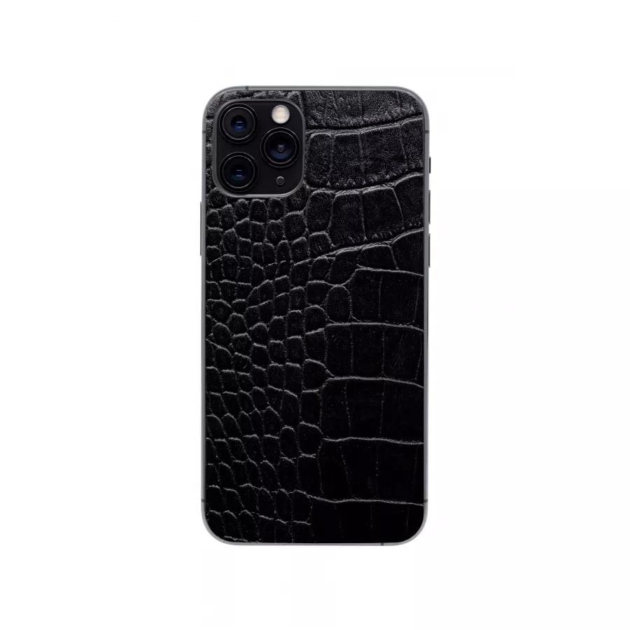 Защитная наклейка из натуральной кожи для iPhone 11 Pro, Вид Черный 2. Вид 1