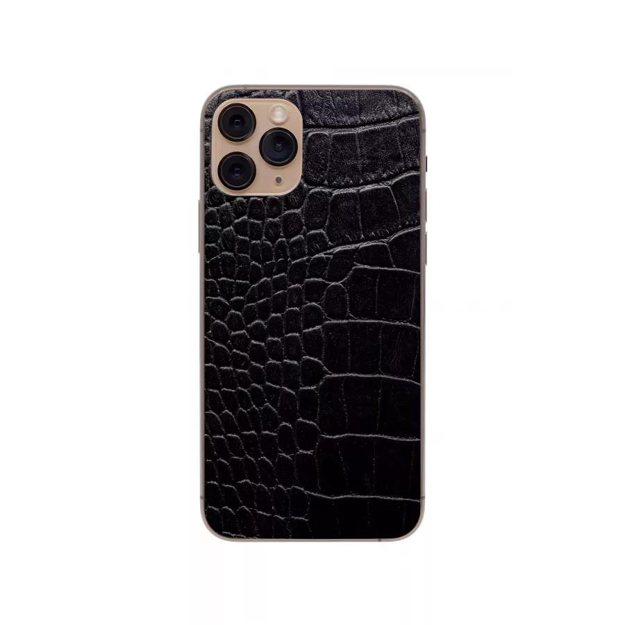 Защитная наклейка из натуральной кожи для iPhone 11 Pro, Вид Черный 2. Вид 4