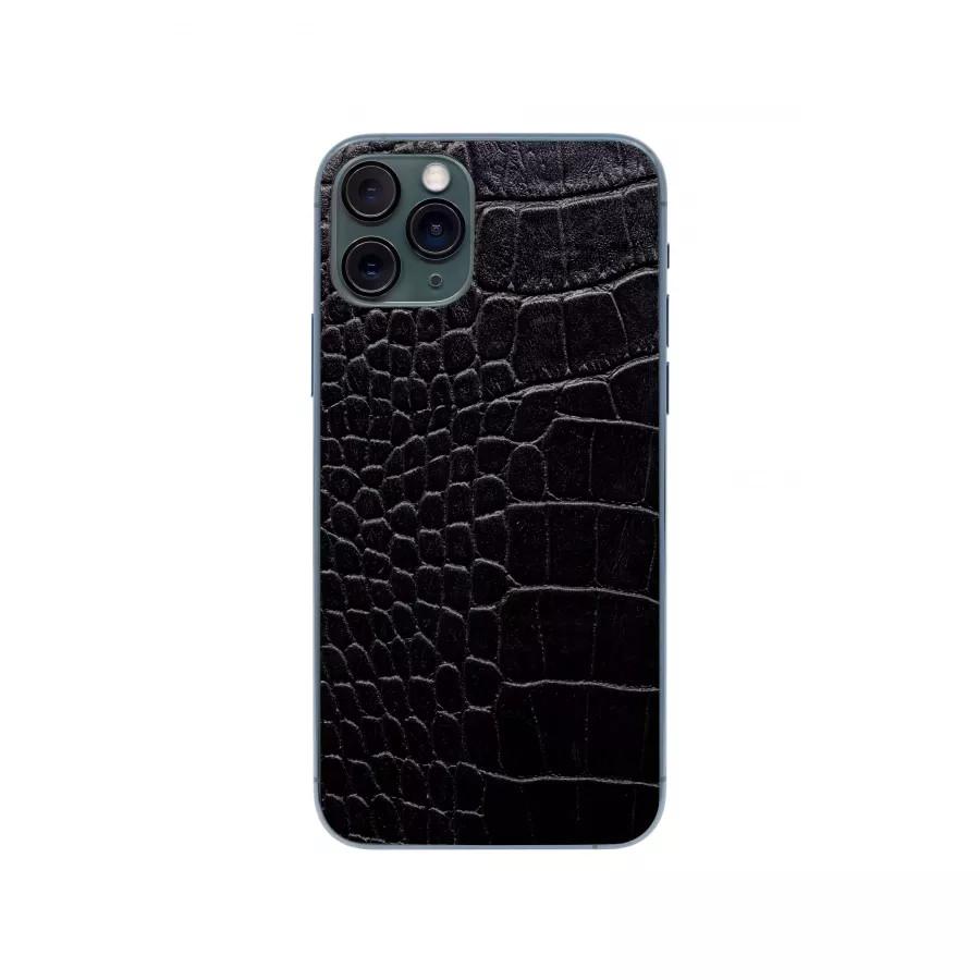 Защитная наклейка из натуральной кожи для iPhone 11 Pro, Вид Черный 2. Вид 2