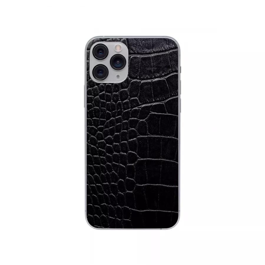 Защитная наклейка из натуральной кожи для iPhone 11 Pro, Вид Черный 2. Вид 3