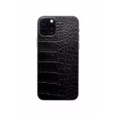 Защитная наклейка из натуральной кожи для iPhone 11 Pro, Вид Черный 3