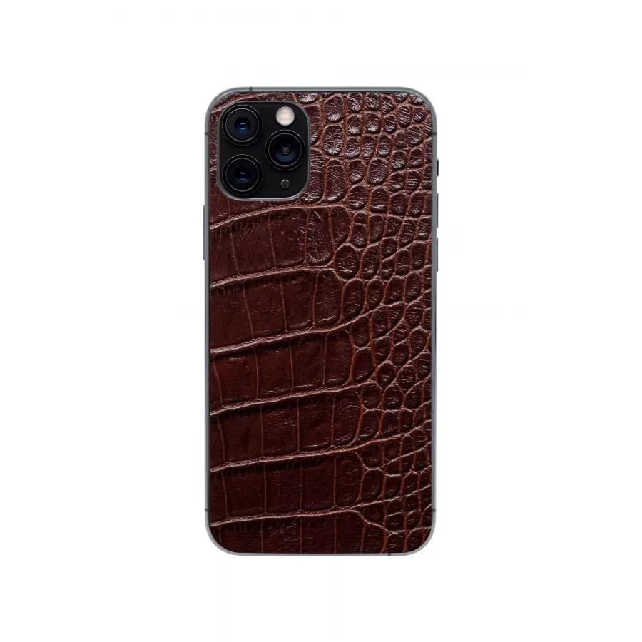 Защитная наклейка из натуральной кожи для iPhone 11 Pro, Вид Коричневый. Вид 2