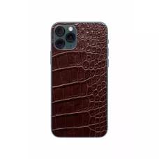 Защитная наклейка из натуральной кожи для iPhone 11 Pro, Вид Коричневый