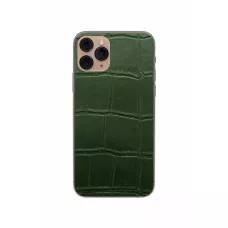 Защитная наклейка из натуральной кожи для iPhone 11 Pro, Вид Зеленый 1