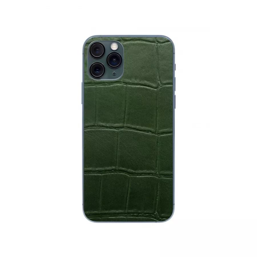Защитная наклейка из натуральной кожи для iPhone 11 Pro, Вид Зеленый 1. Вид 3
