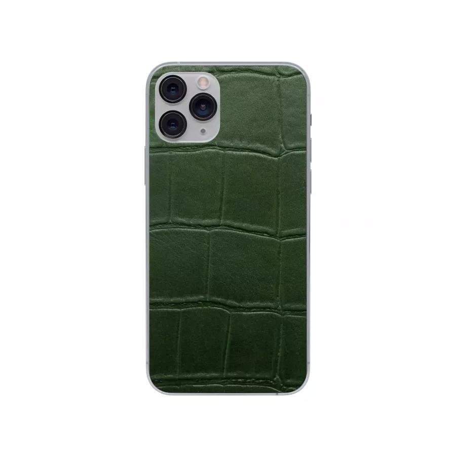 Защитная наклейка из натуральной кожи для iPhone 11 Pro, Вид Зеленый 1. Вид 2