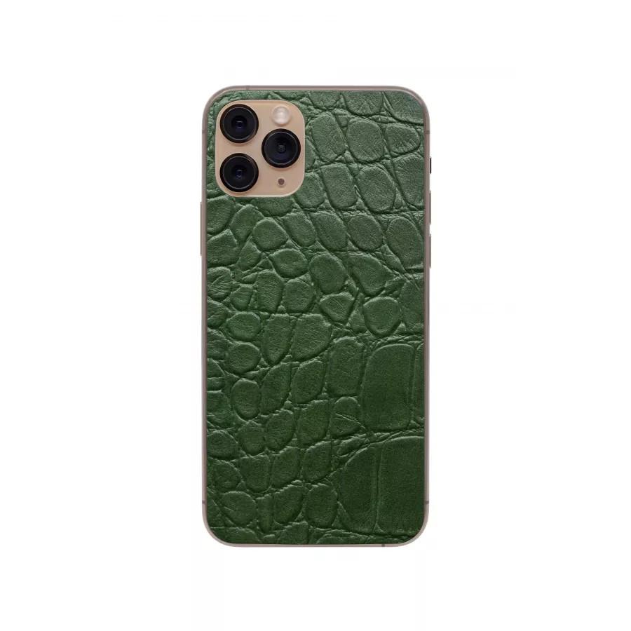 Защитная наклейка из натуральной кожи для iPhone 11 Pro, Вид Зеленый 2. Вид 2