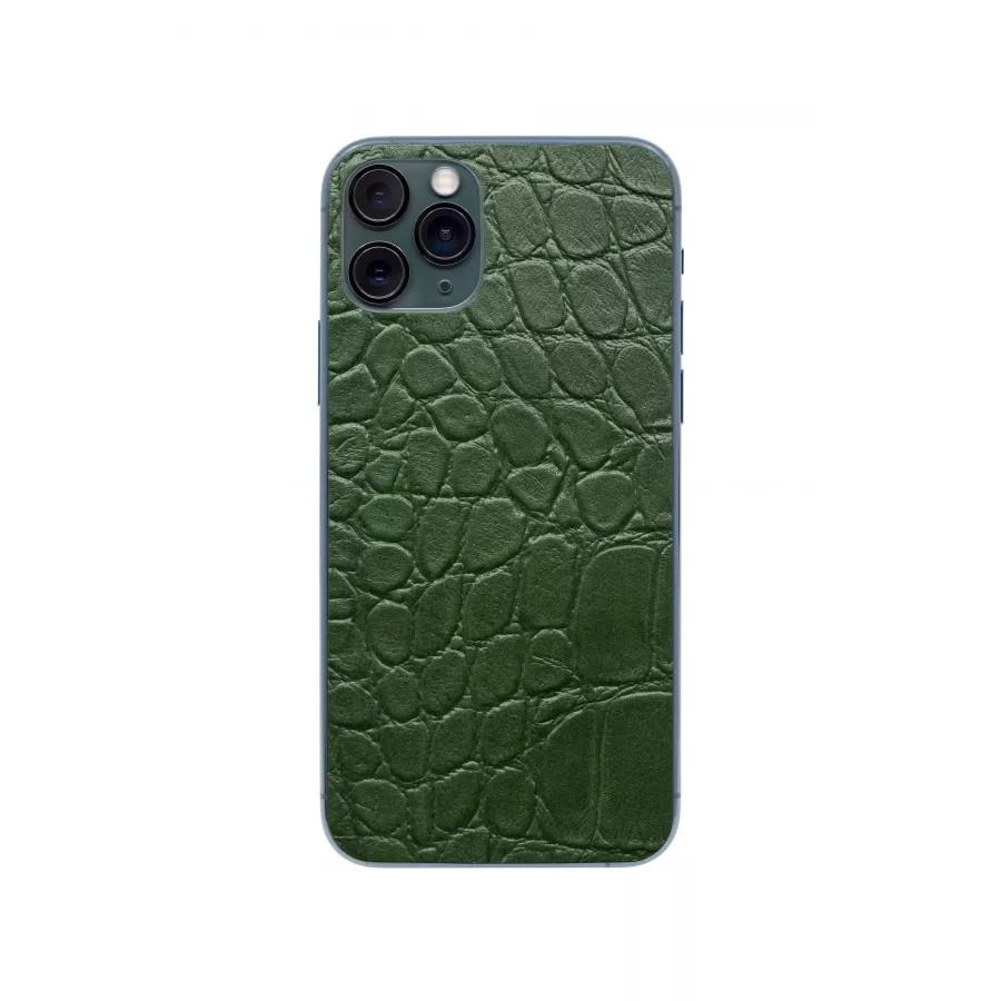 Защитная наклейка из натуральной кожи для iPhone 11 Pro, Вид Зеленый 2. Вид 3