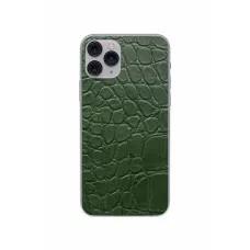 Защитная наклейка из натуральной кожи для iPhone 11 Pro, Вид Зеленый 2