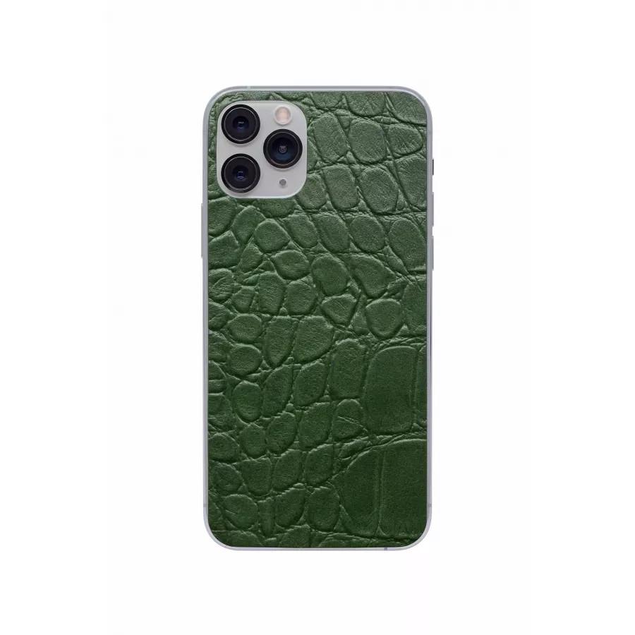 Защитная наклейка из натуральной кожи для iPhone 11 Pro, Вид Зеленый 2. Вид 1