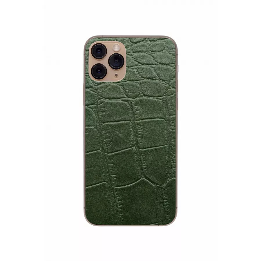 Защитная наклейка из натуральной кожи для iPhone 11 Pro, Вид Зеленый 3. Вид 3