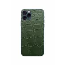 Защитная наклейка из натуральной кожи для iPhone 11 Pro, Вид Зеленый 3