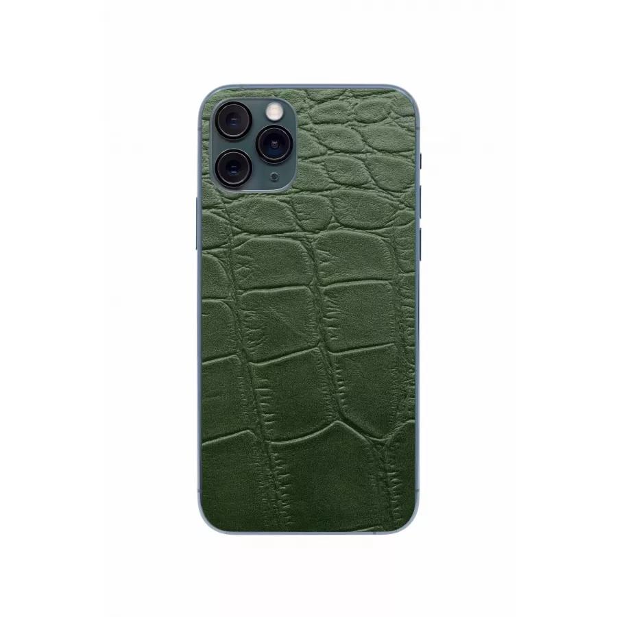 Защитная наклейка из натуральной кожи для iPhone 11 Pro, Вид Зеленый 3. Вид 1