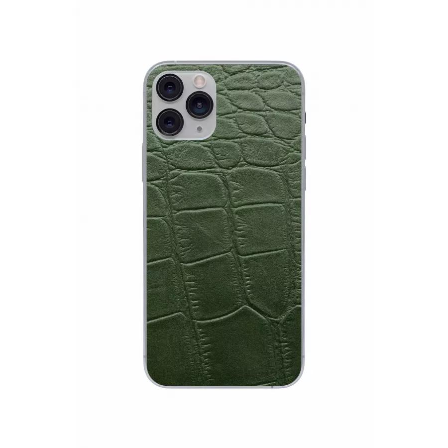 Защитная наклейка из натуральной кожи для iPhone 11 Pro, Вид Зеленый 3. Вид 2