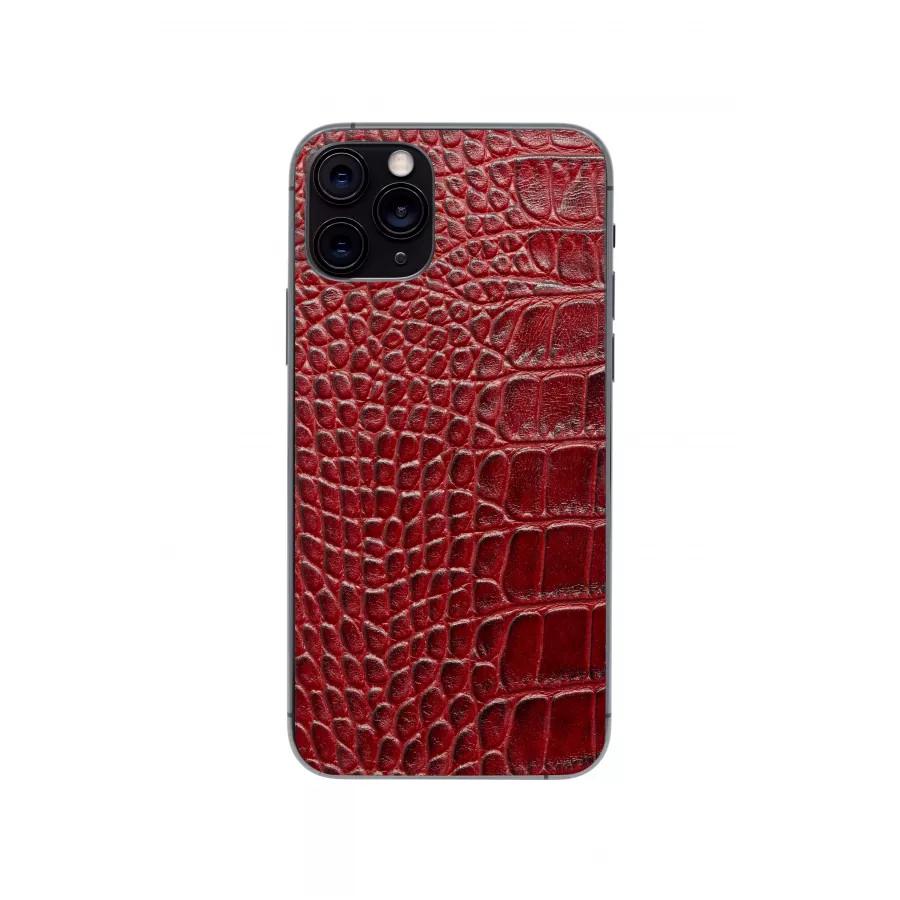 Защитная наклейка из натуральной кожи для iPhone 11 Pro, Вид Красный 1. Вид 4