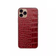 Защитная наклейка из натуральной кожи для iPhone 11 Pro, Вид Красный 1