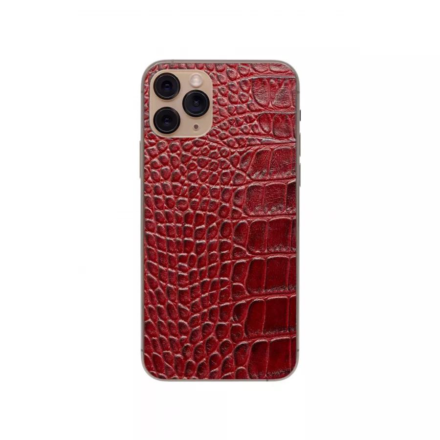 Защитная наклейка из натуральной кожи для iPhone 11 Pro, Вид Красный 1. Вид 1