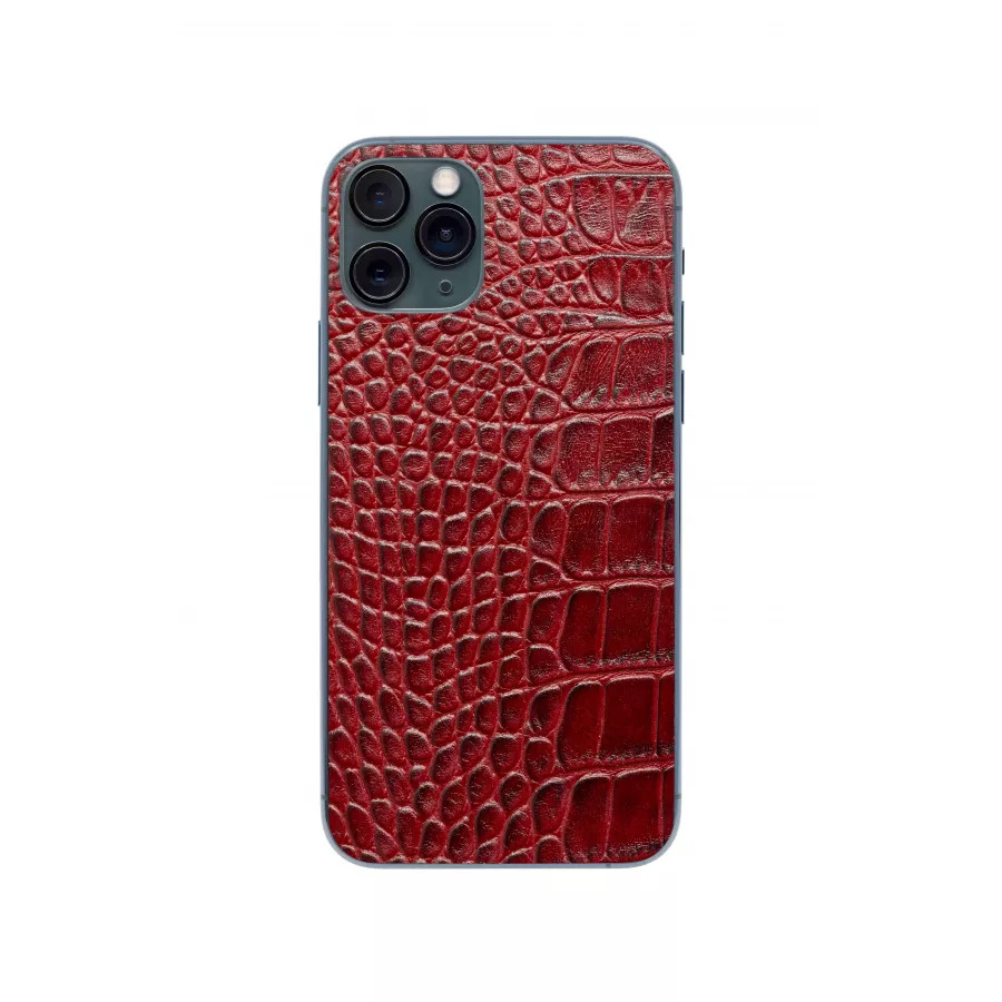 Защитная наклейка из натуральной кожи для iPhone 11 Pro, Вид Красный 1. Вид 3