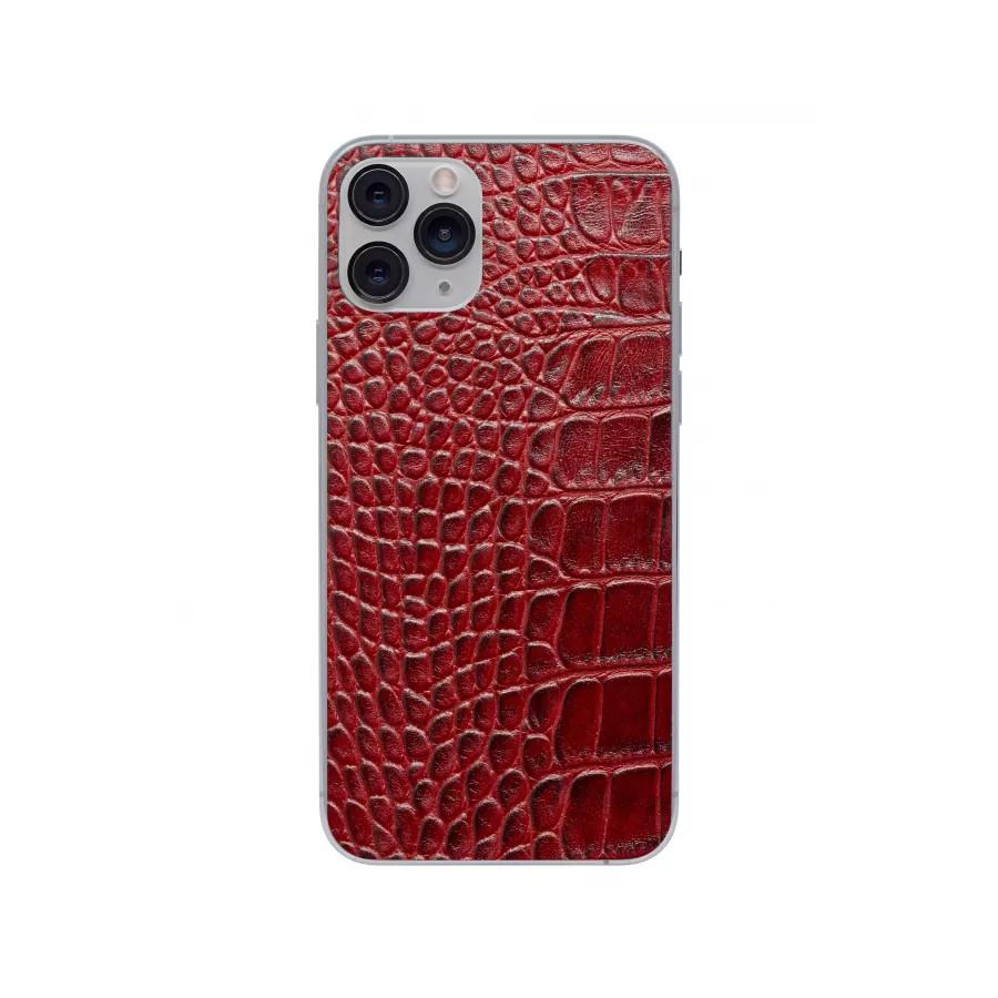 Защитная наклейка из натуральной кожи для iPhone 11 Pro, Вид Красный 1. Вид 2