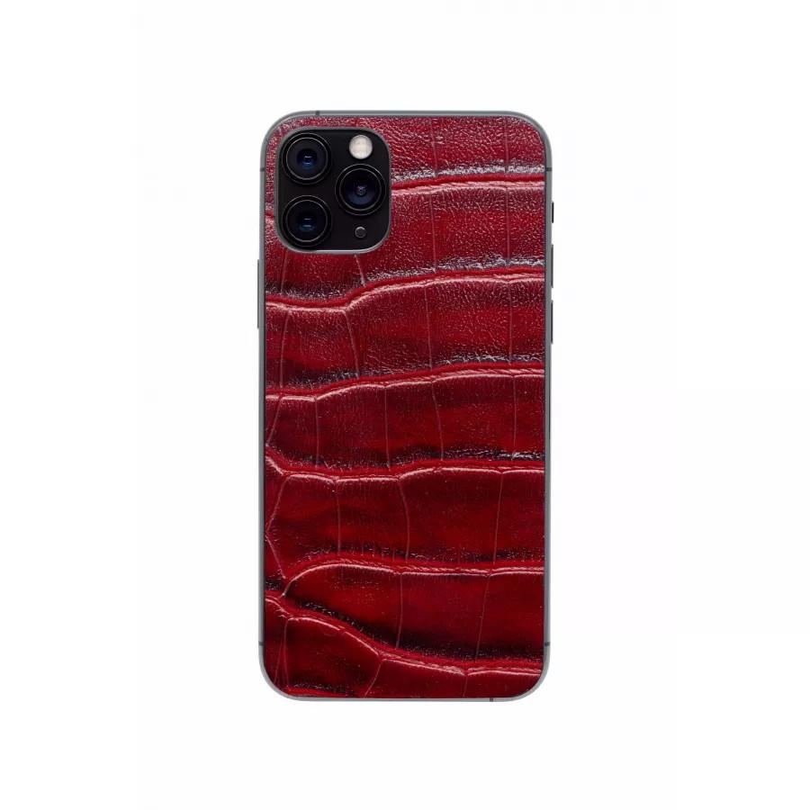 Защитная наклейка из натуральной кожи для iPhone 11 Pro, Вид Красный 2. Вид 4