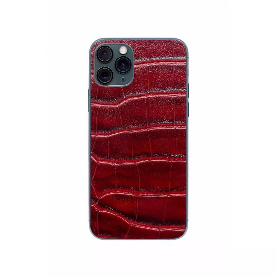 Защитная наклейка из натуральной кожи для iPhone 11 Pro, Вид Красный 2. Вид 3