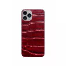 Защитная наклейка из натуральной кожи для iPhone 11 Pro, Вид Красный 2