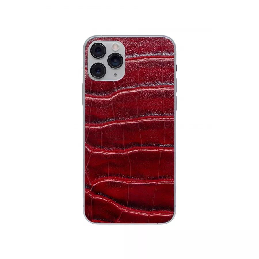 Защитная наклейка из натуральной кожи для iPhone 11 Pro, Вид Красный 2. Вид 1